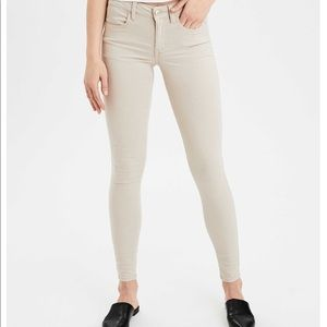 Sateen X Super Super Stretch AEO Jeggings — Tan